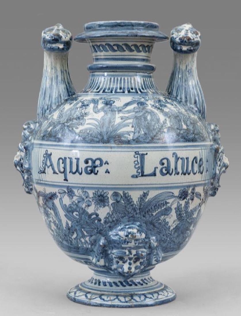 Idria in ceramica di Savona, manici a forma di