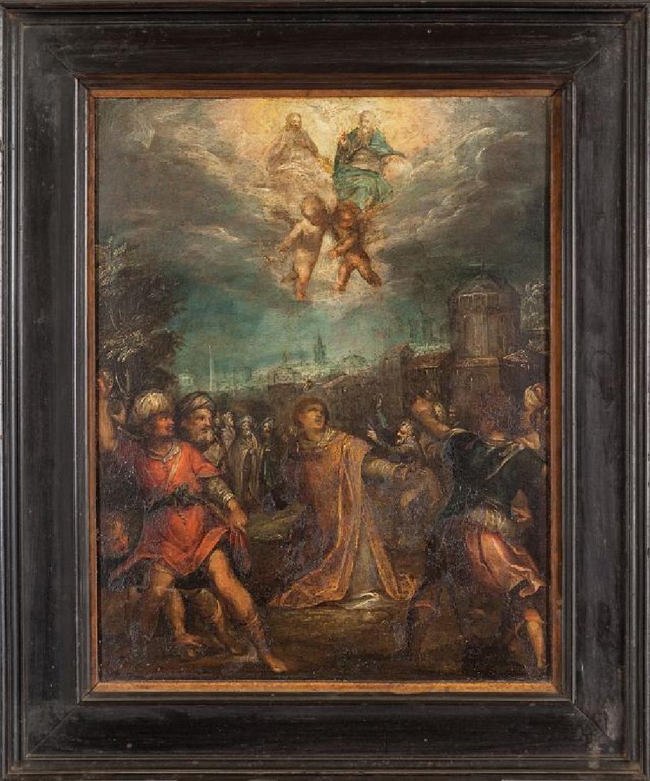 "Scuola lombarda sec.XVII ""San Lorenzo"" olio su"
