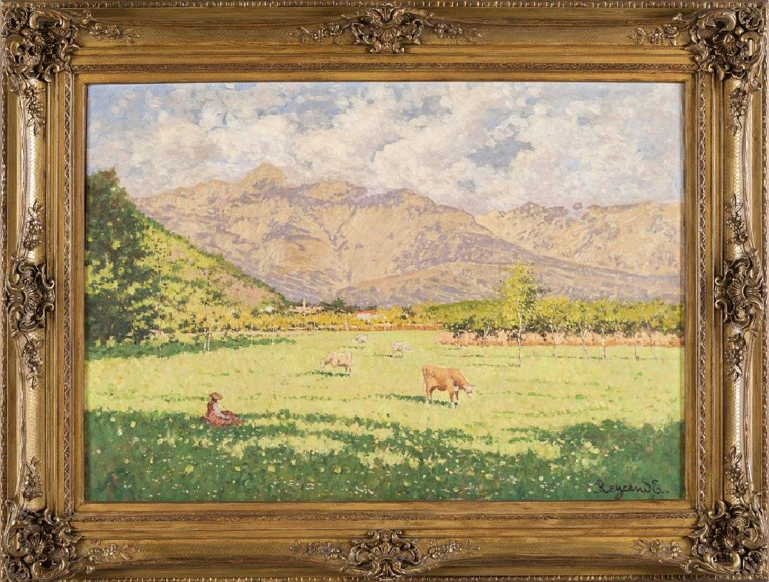 ENRICO REYCEND (1855-1928)  Pascolo in Val