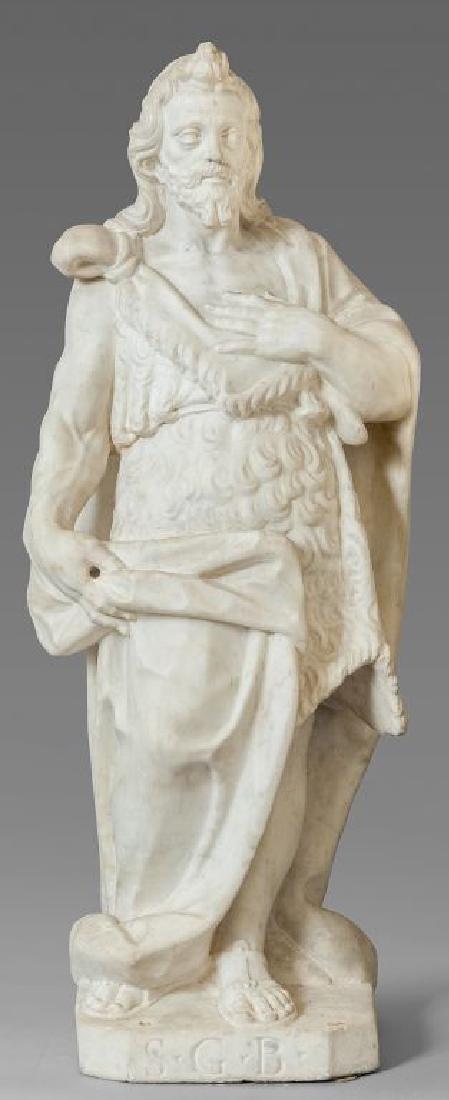 """""""San Giovanni Battista"""" scultura in marmo"""