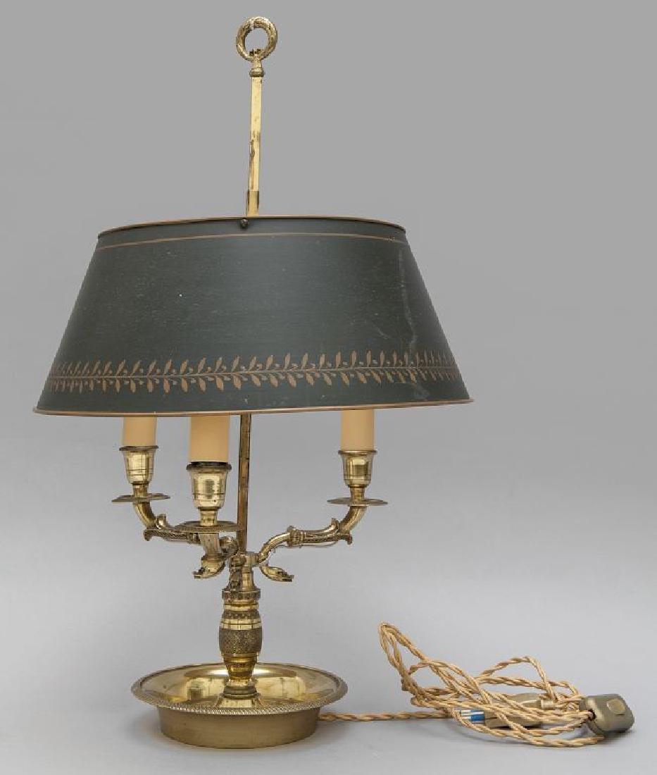 Lampada a bouilotte in bronzo dorato