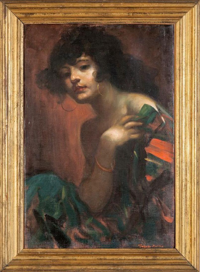 MATTIA TRAVERSO (1885-1956)  Ritratto della