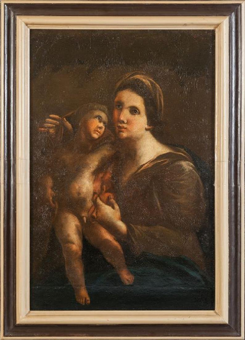"""""""Madonna con Bambino"""" olio, sec.XVIII cm."""