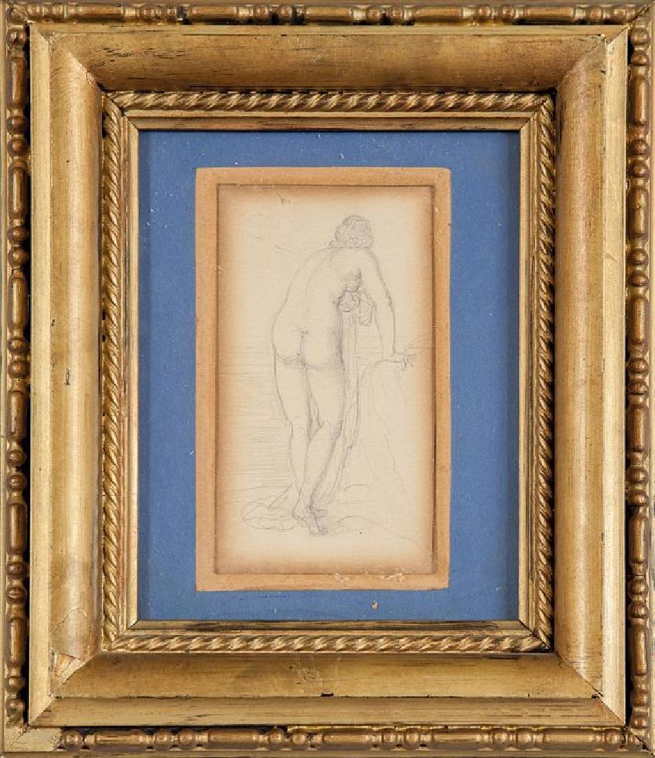 "P.Puvis De Chavennes (1824-1898) ""Nudo femminile"""