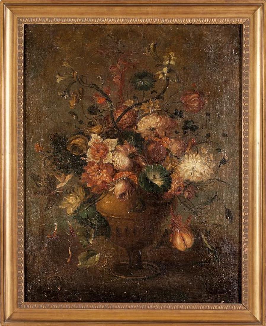 """Scuola italiana sec. XVIII """"Vaso di fiori"""""""