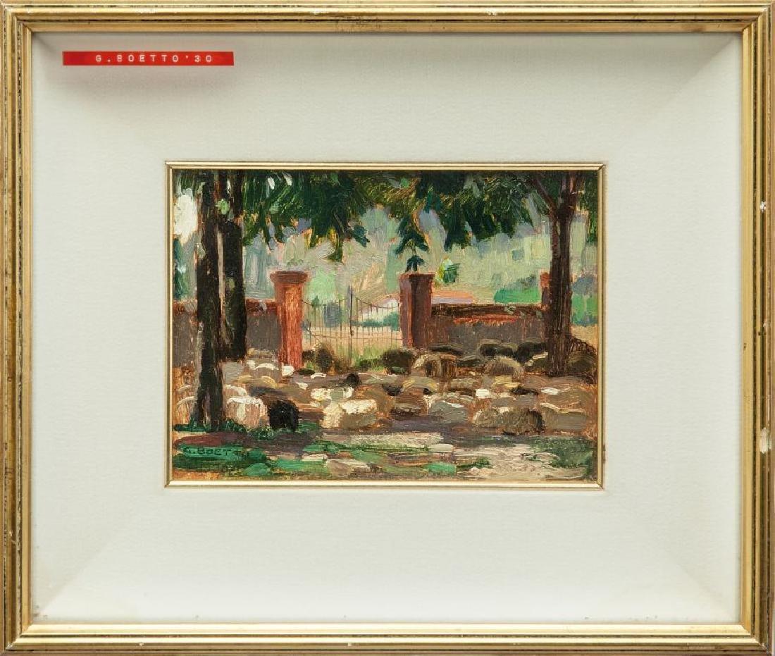 GIULIO BOETTO (1894-1967)  Il gregge olio