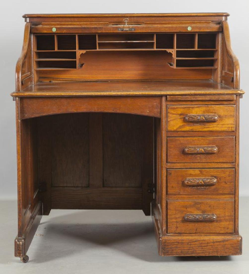 "Scrivania americana ""city desk"" in peachpine con"