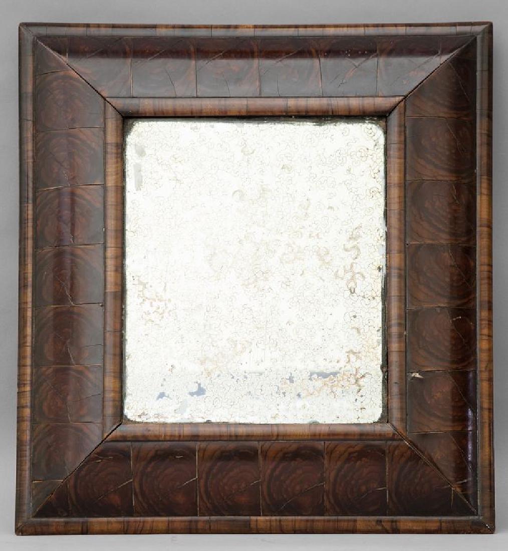 Specchierina lastronata in legno di viola,