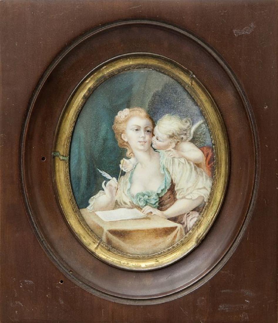 """""""La lettera d'amore"""" miniatura su avorio, fine"""