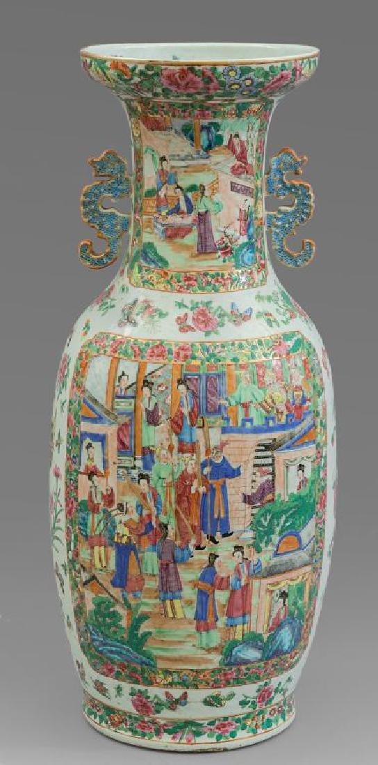 Vaso in porcellana policroma con decoro di scene - 2