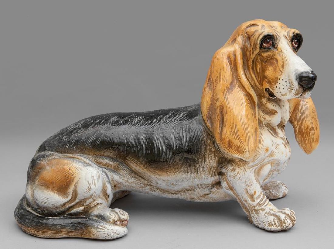 Basset hound in ceramica