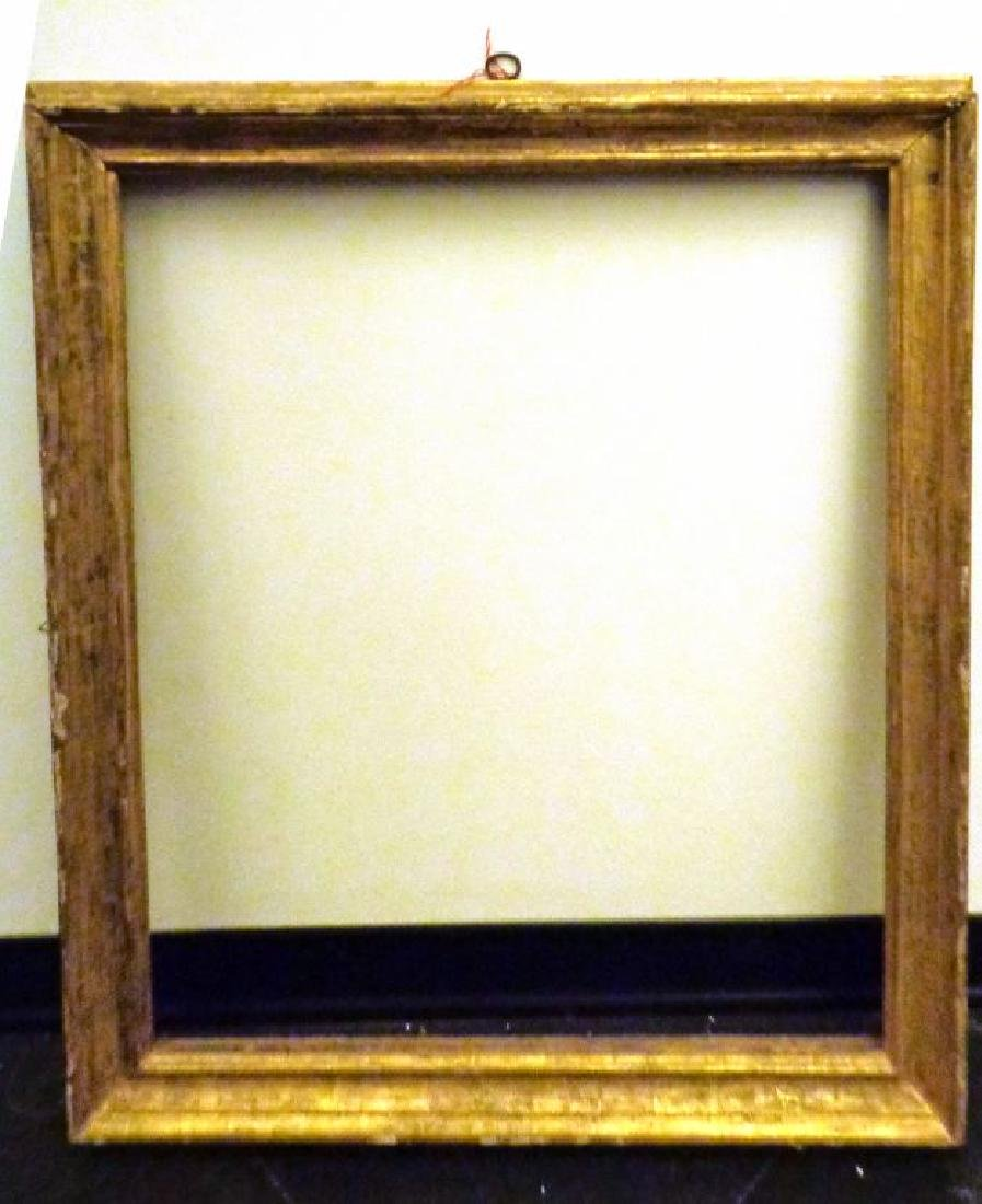 Cornice Luigi XIV in legno dorato luce cm.