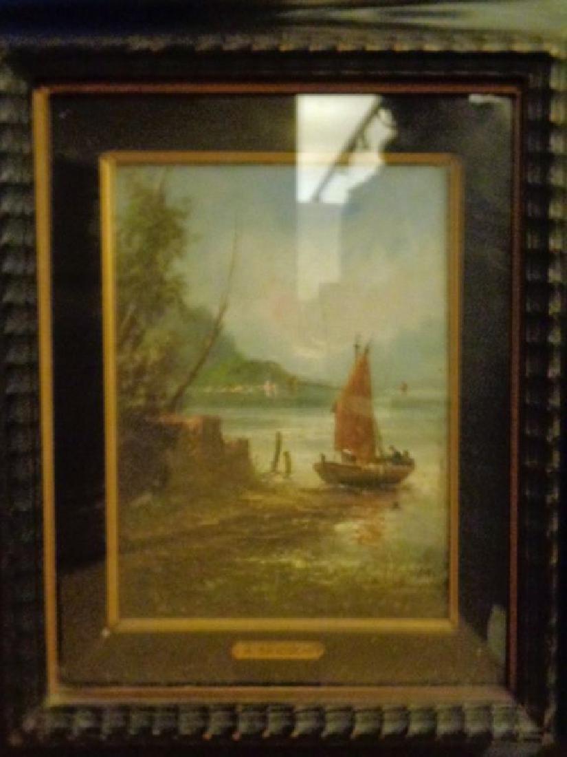 A.Brioschi Veduta di lago olio