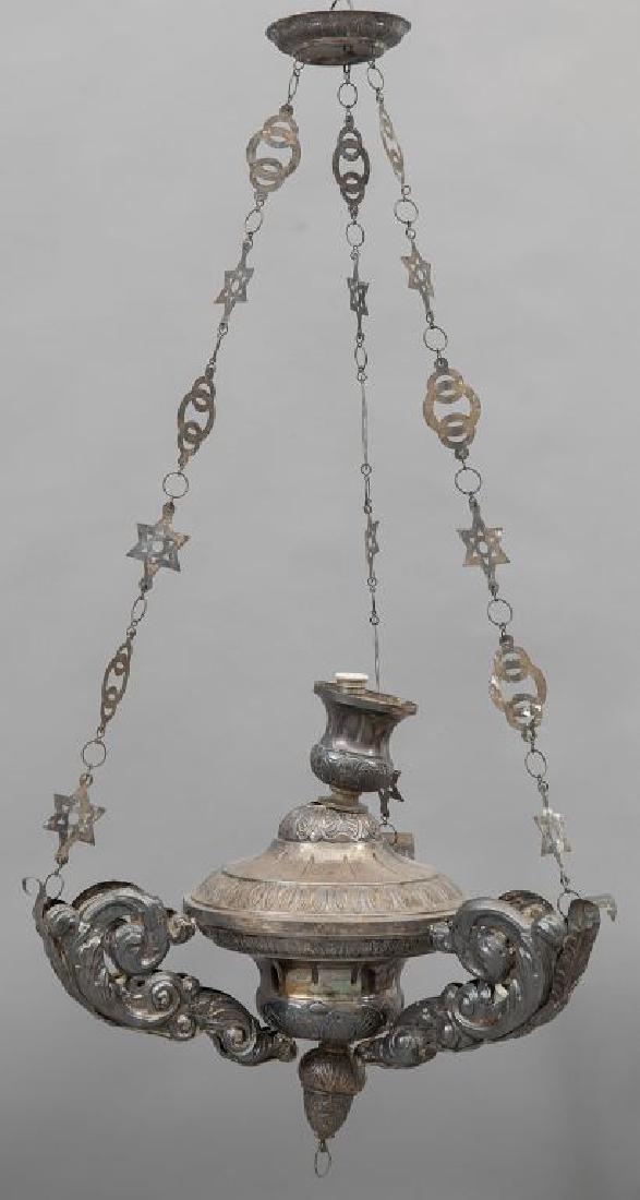 Lampada votiva Luigi XV in argento, Genova
