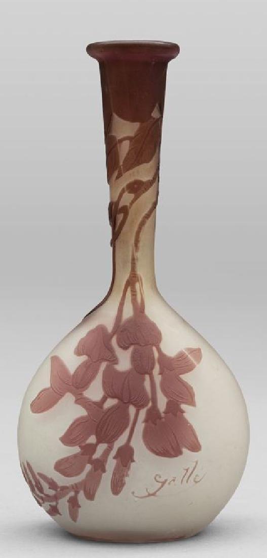 Vaso soliflore in vetro con decoro floreale nei