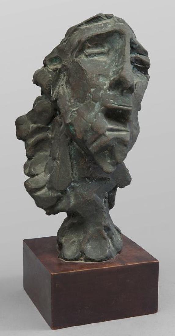 Testa di Cristo, scultura in bronzo f.ta e d.ta