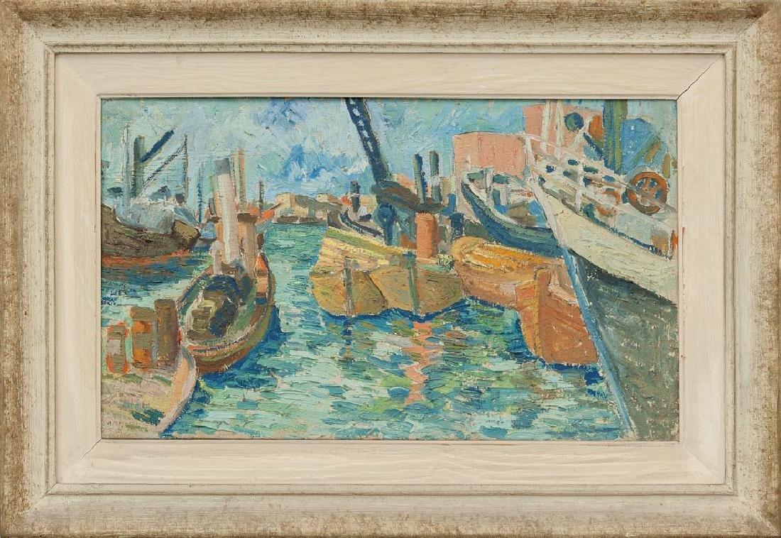 ATTILIO MANGINI (1912-2004)  Il porto di