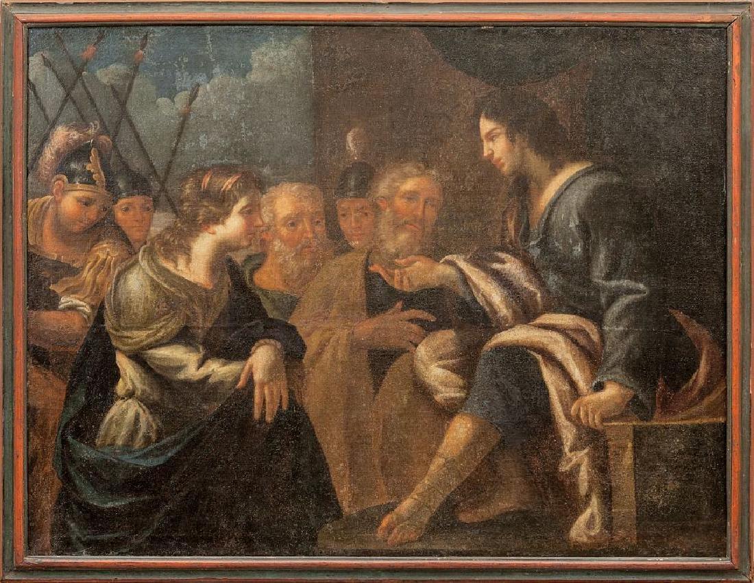 """Scuola genovese sec.XVII """"La Predica di Gesù"""""""