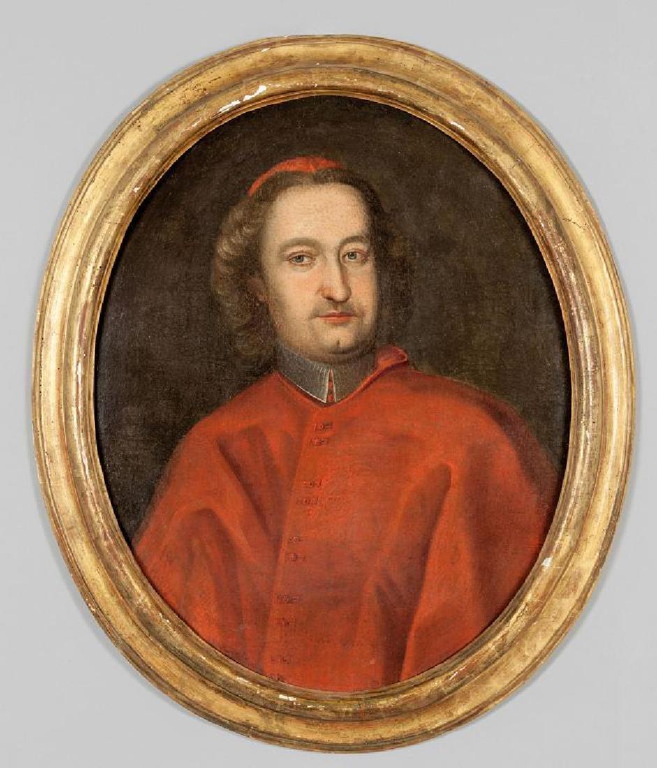 """Scuola romana sec.XVIII """"Ritratto del Cardinale"""