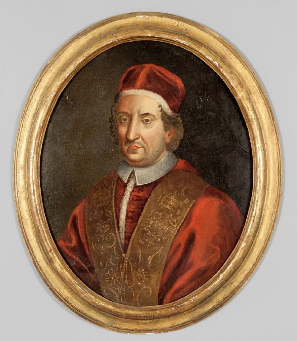 """Scuola romana sec.XVIII """"Ritratto di Papa"""