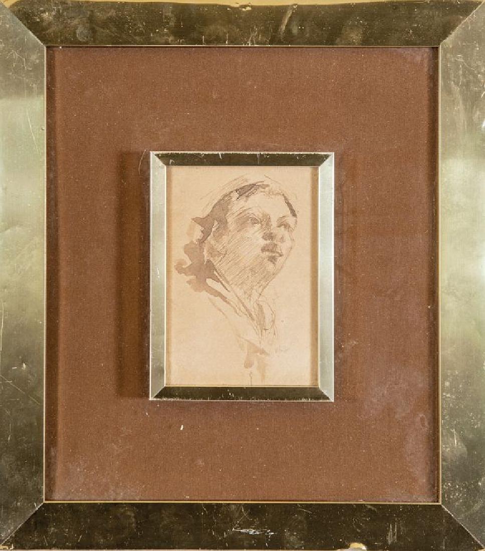 VINCENZO IROLLI (1860-1942)  Volto di