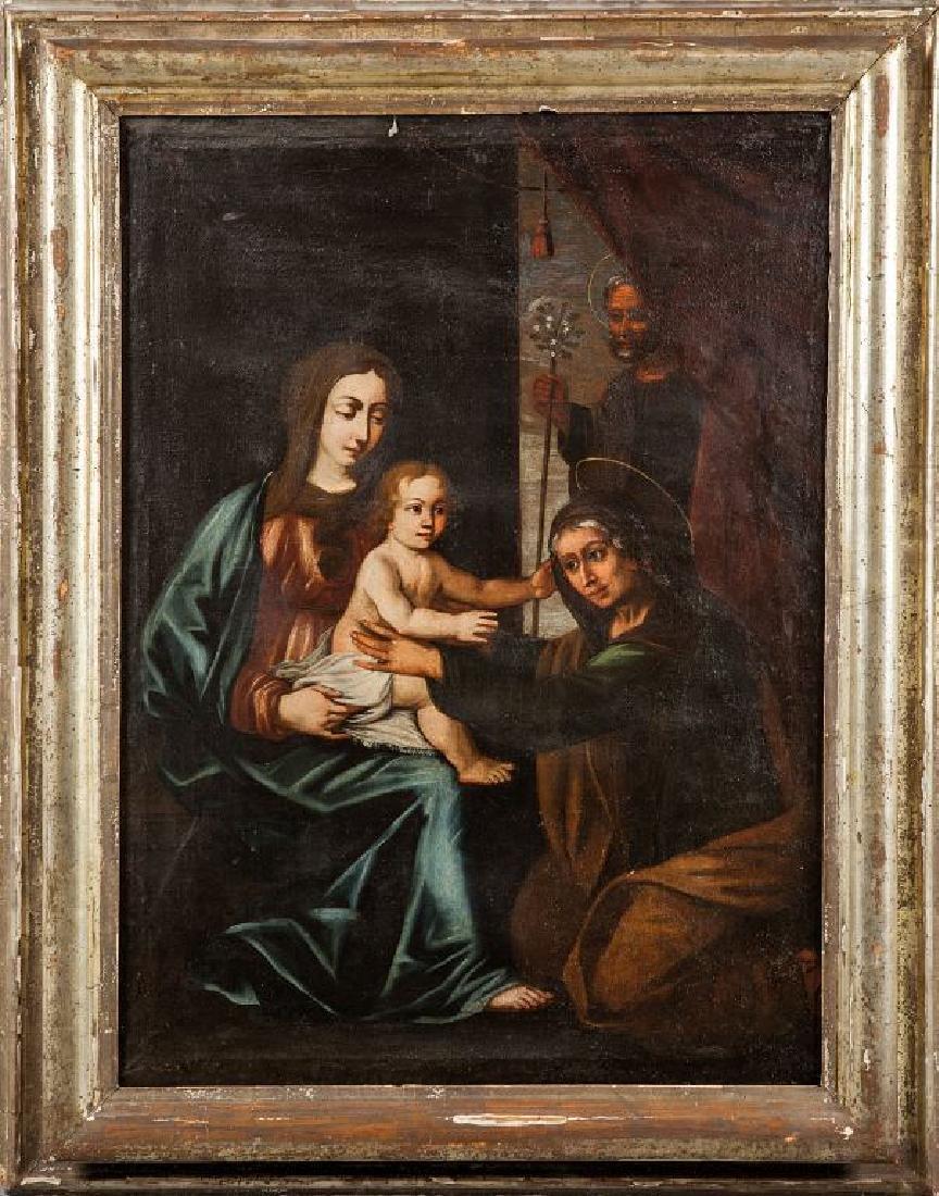 """Scuola italiana sec.XVIII """"Madonna con Bambino e"""