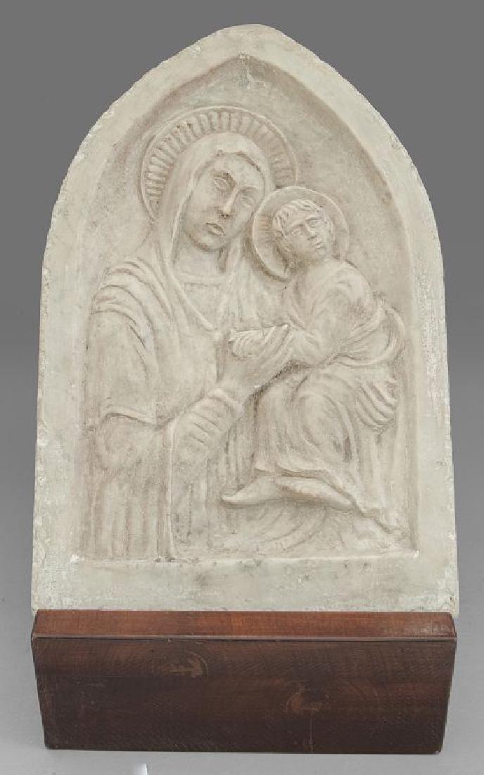 Madonna con Bambino, placca in marmo