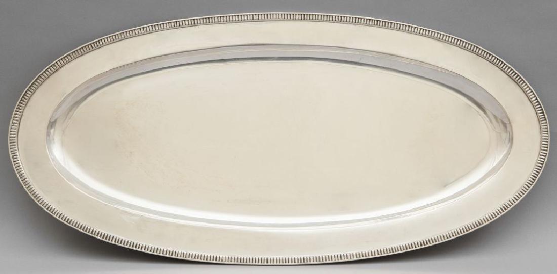 Pescera in argento cm.66x32, kg.2