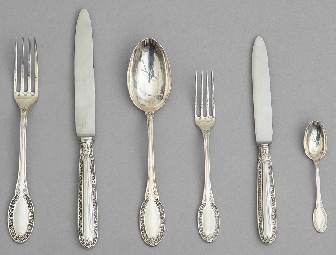 Servizio di posate in argento composto da 12