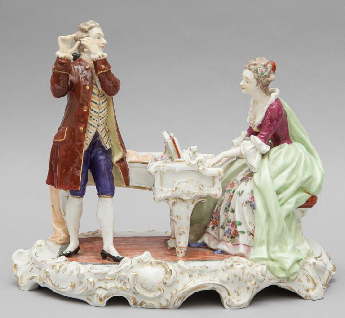 Concertino, gruppo in porcellana di Capodimonte,
