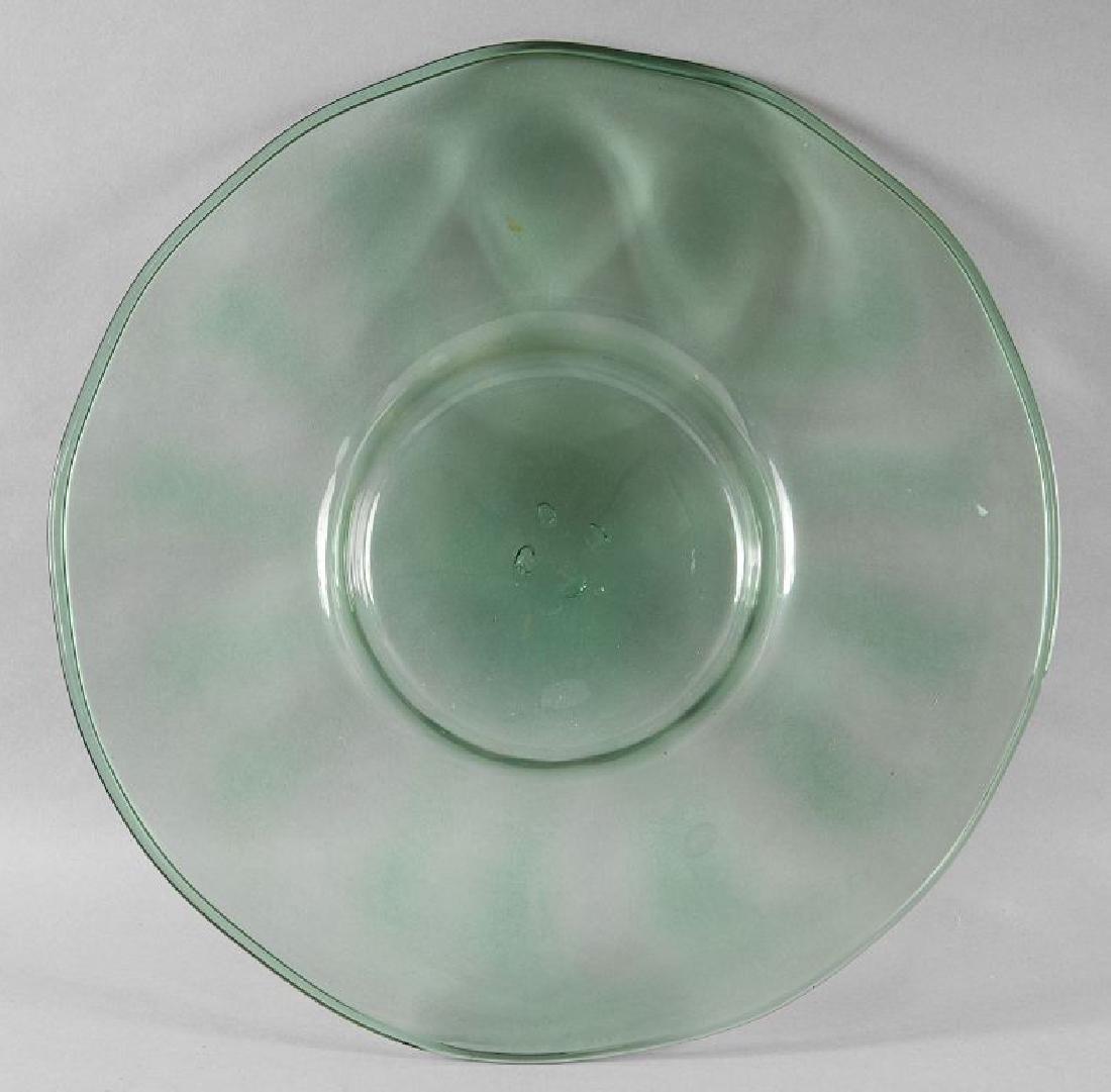 Piatto in vetro verde, Venezia