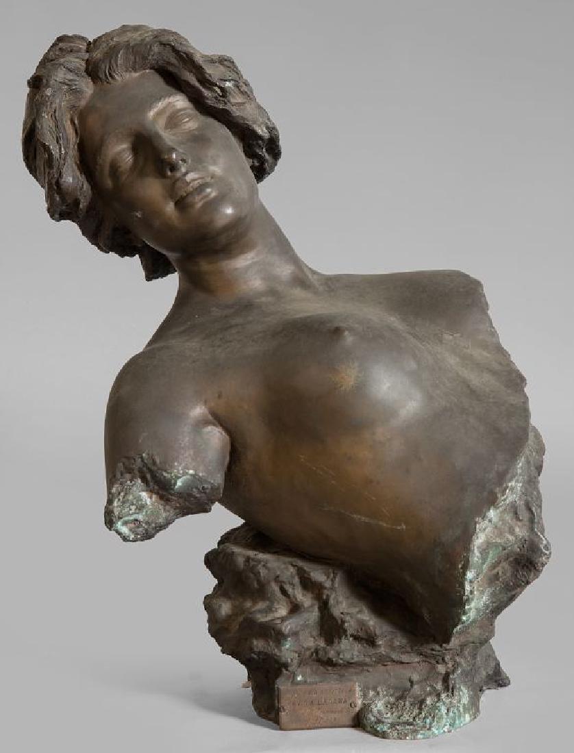 GIUSEPPE RENDA (1859-1939)  Busto di giovane
