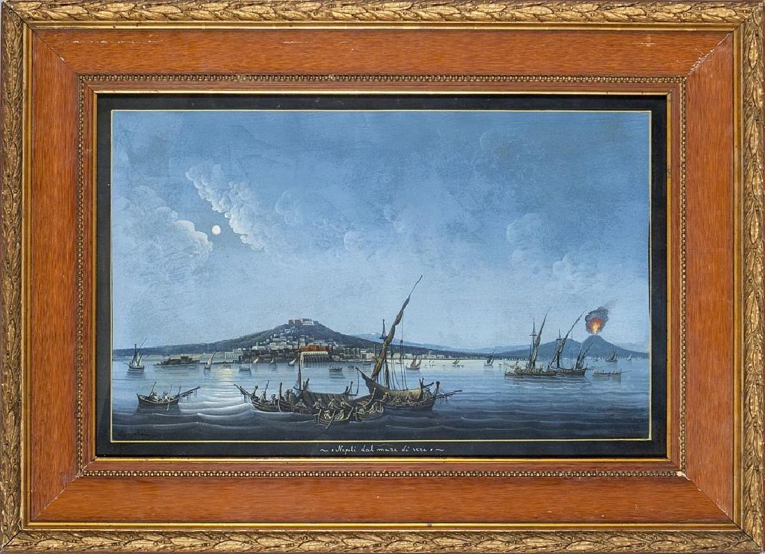 """Scuola napoletana fine sec.XIX """"Napoli dal mare"""