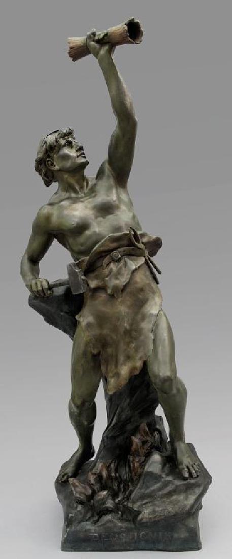 """E.Picault """"Deus Ignis"""" scultura in"""