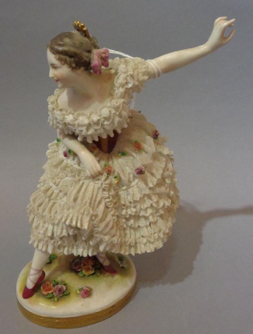 Ballerina, scultura in porcellana di Capodimonte