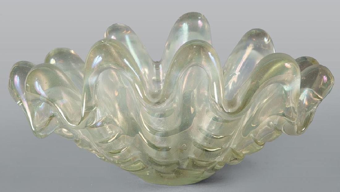 Centrotavola a forma di conchiglia in vetro