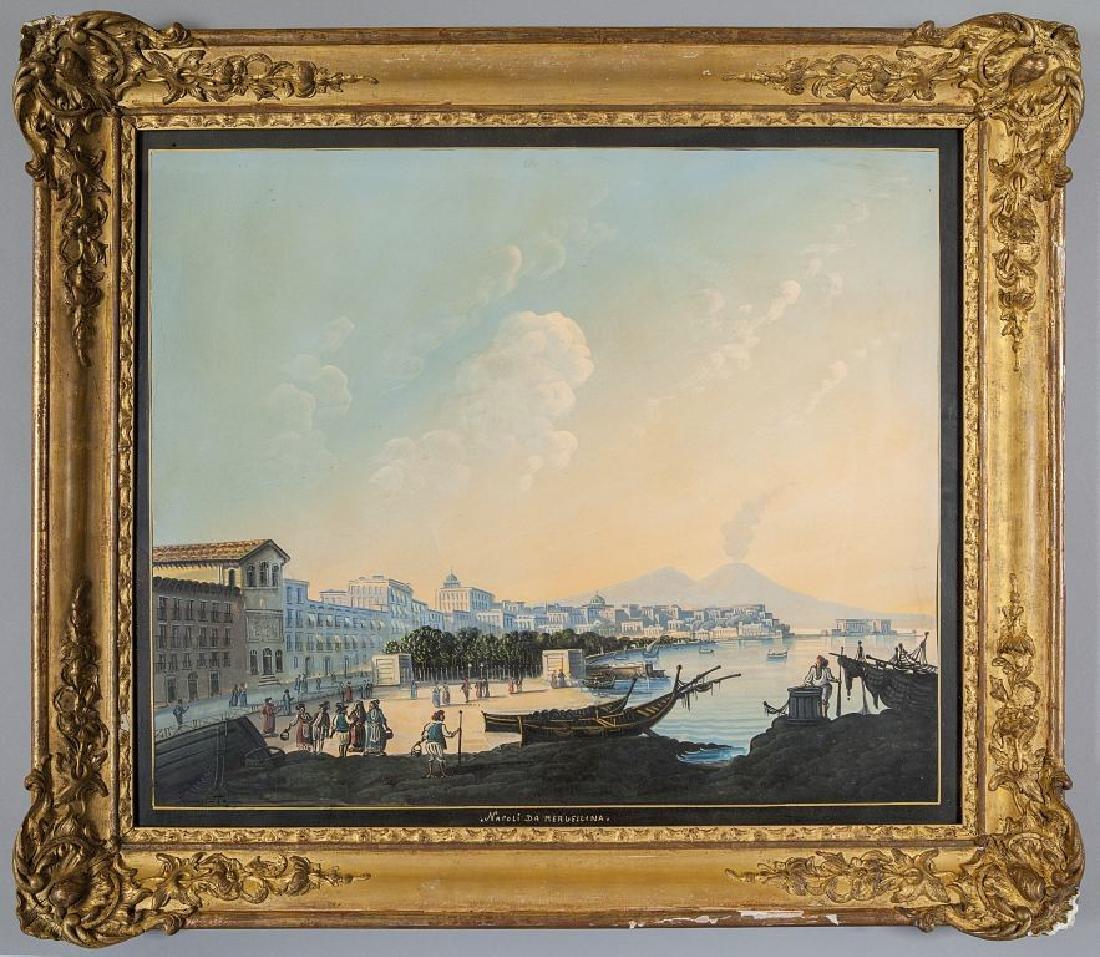 """Scuola napoletana fine sec.XIX """"Napoli da"""