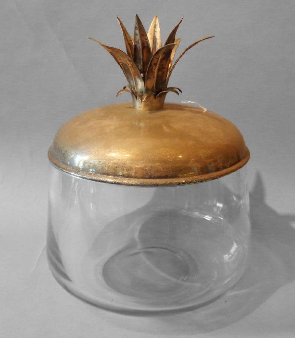 Grande coppa in cristallo con coperchio in