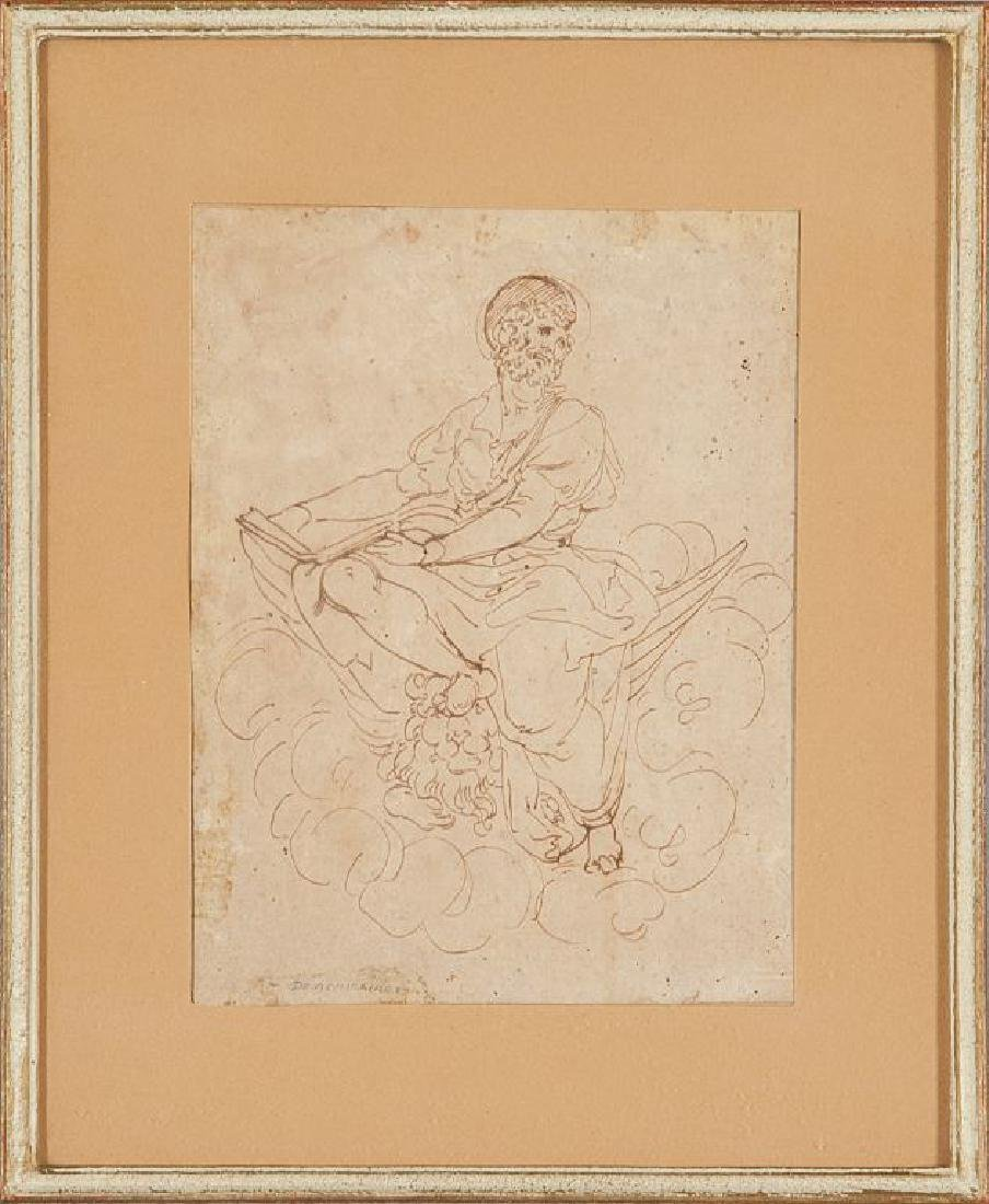 """""""Il Redentore"""" disegno sec.XVIII cm. 16,5x21,5"""