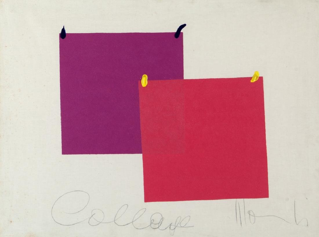 ALDO MONDINO (1938-2005)  Collage acrilico