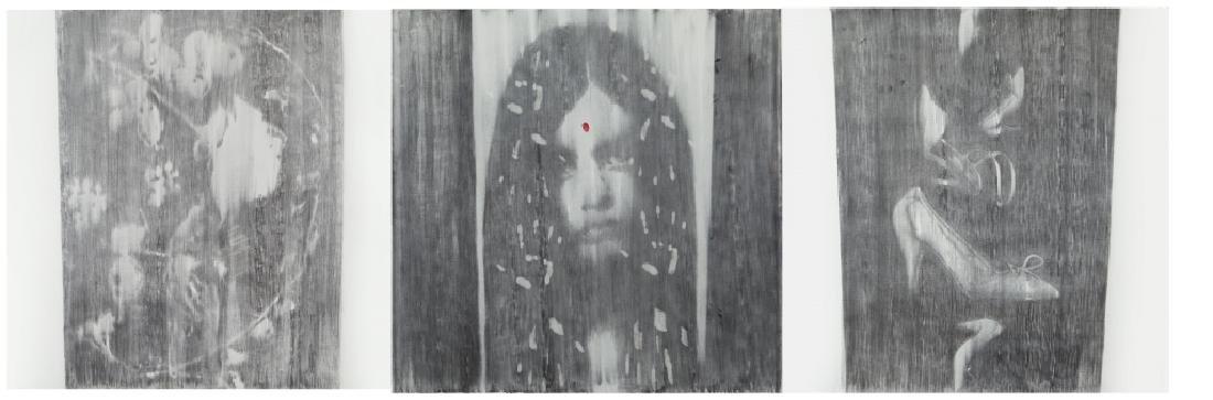 OMAR GALLIANI (1954-)  Impronte grafite su