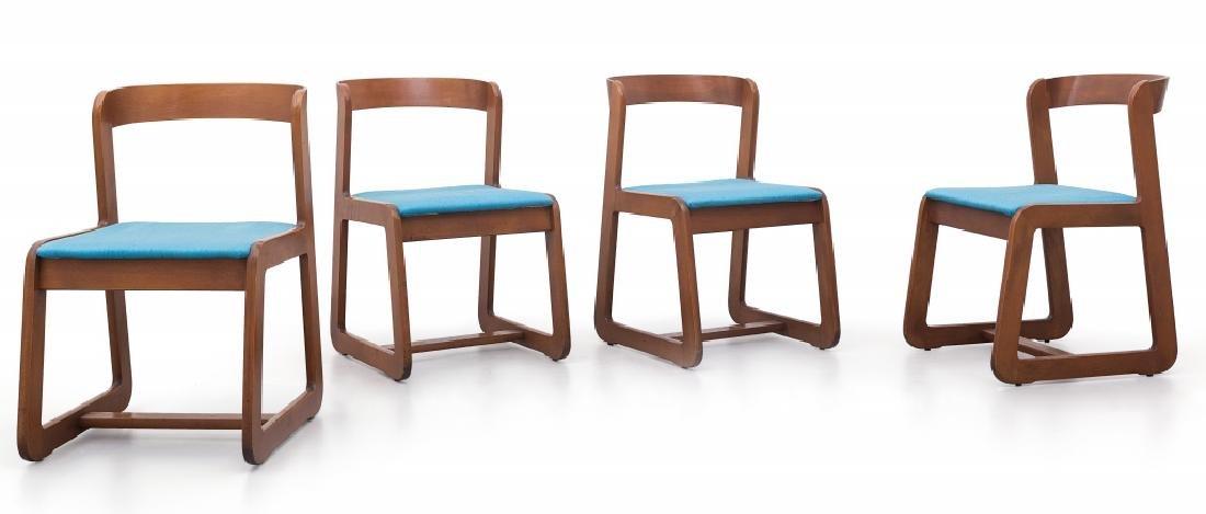 WILLY RIZZO  Quattro sedie, circa 1970.