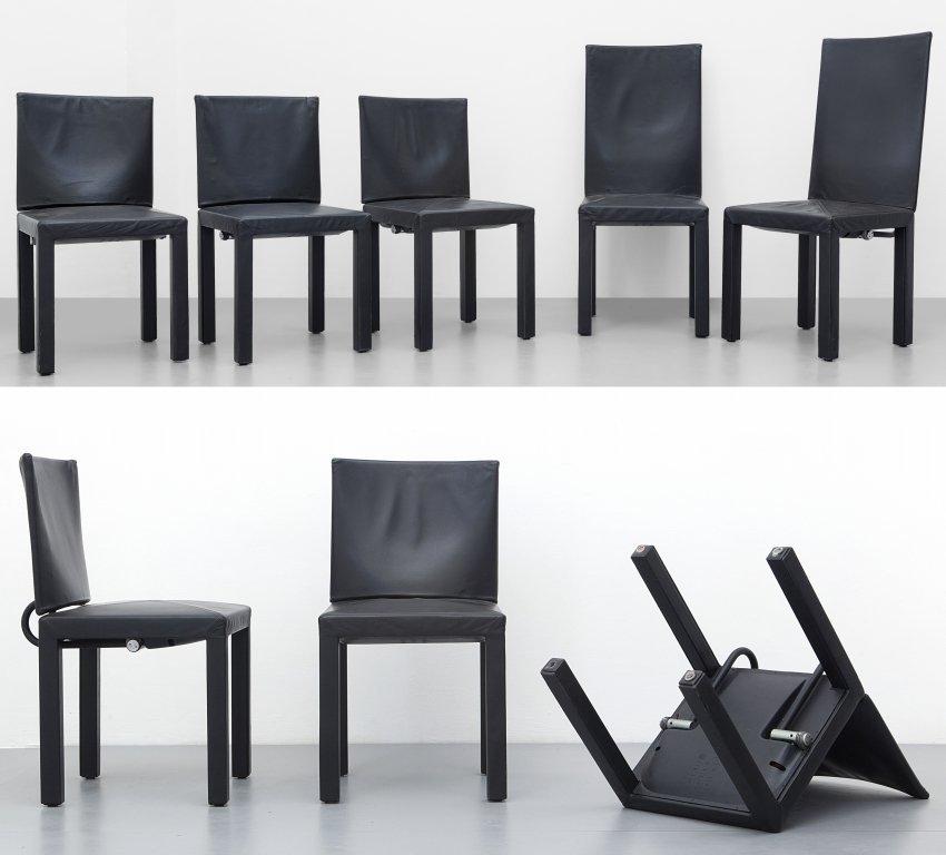 PAOLO PIVA  Otto sedie 'Arcara' della