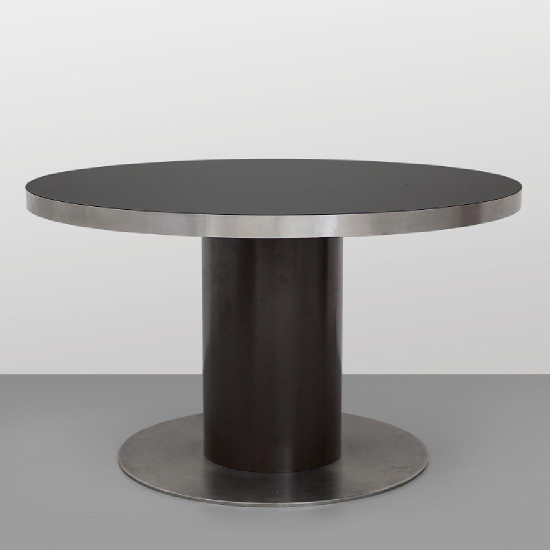 WILLY RIZZO  Un tavolo, anni '70.  Acciaio
