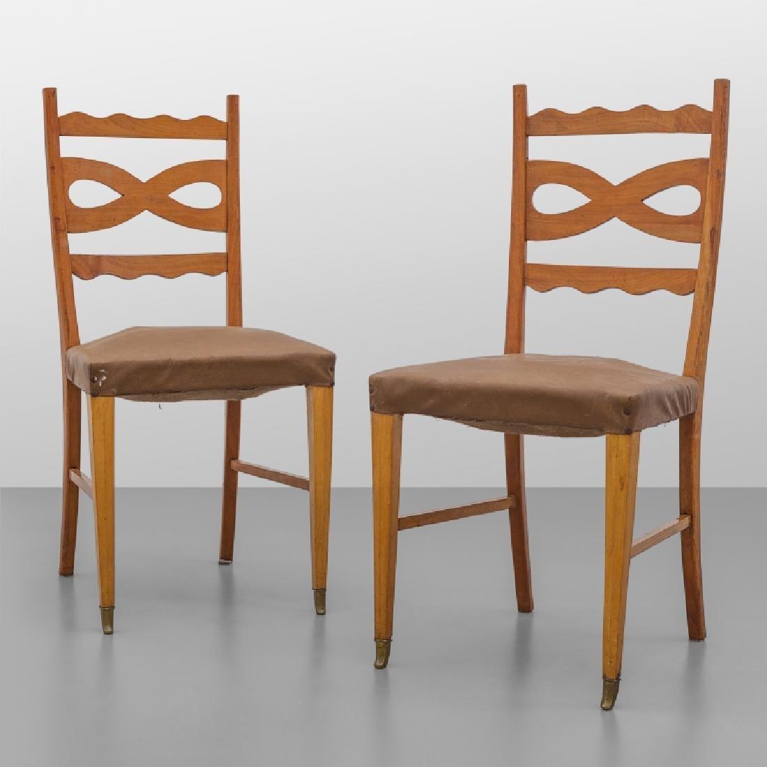 PAOLO BUFFA  Due sedie, anni '40.  Legno di