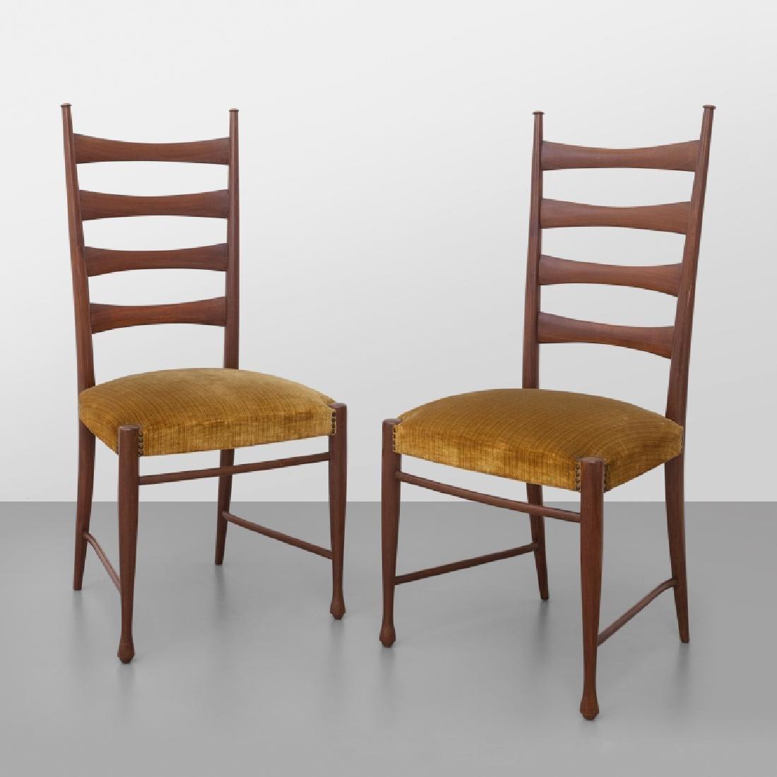 PAOLO BUFFA  Due sedie, anni '50.  Legno di