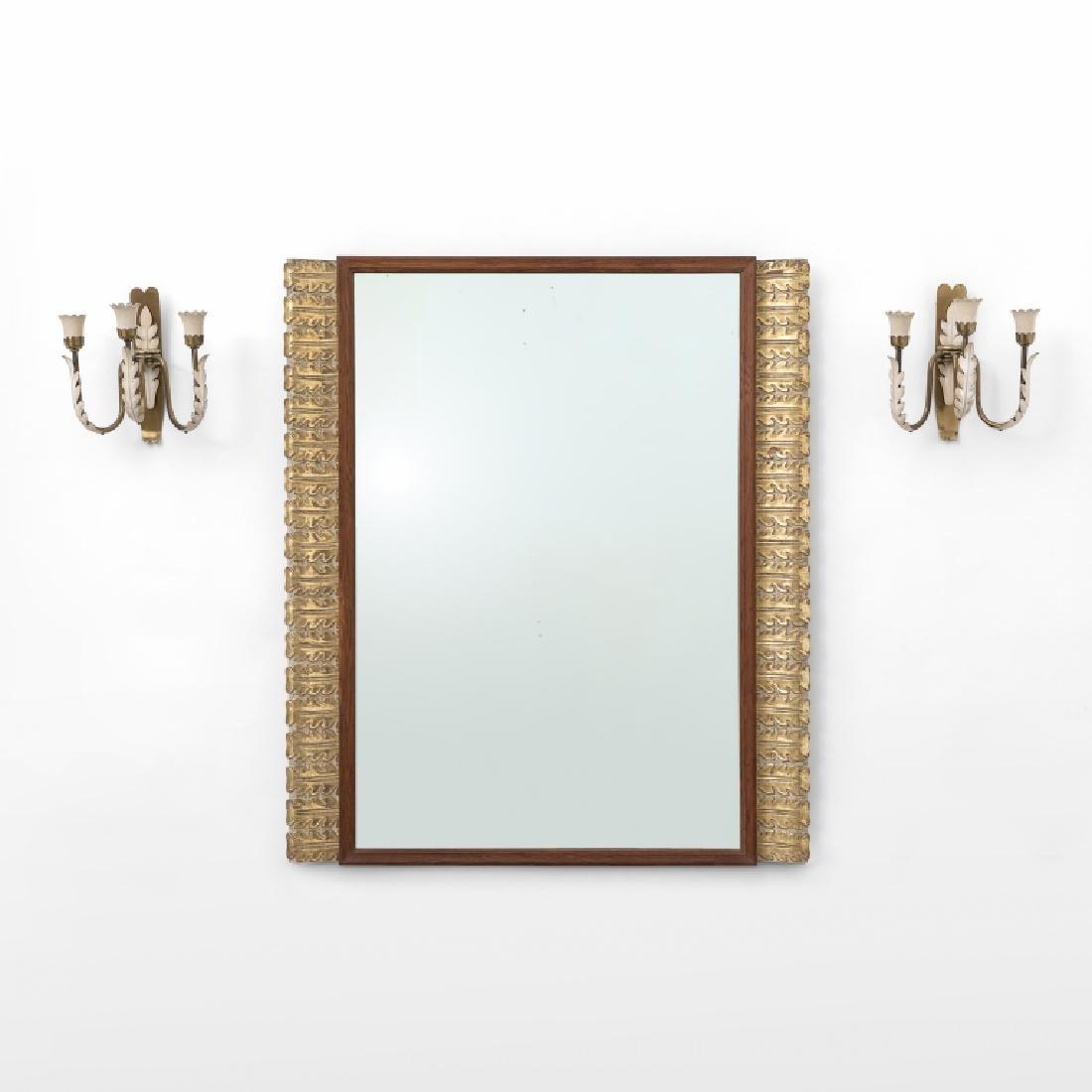 PAOLO BUFFA  Uno specchio da parete eseguito