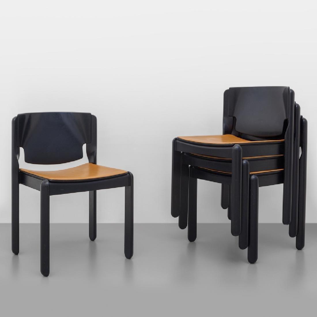 VICO MAGISTRETTI Quattro sedie impilabili
