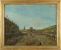 "Scuola veneta sec.XVIII ""Veduta di Piazza San"