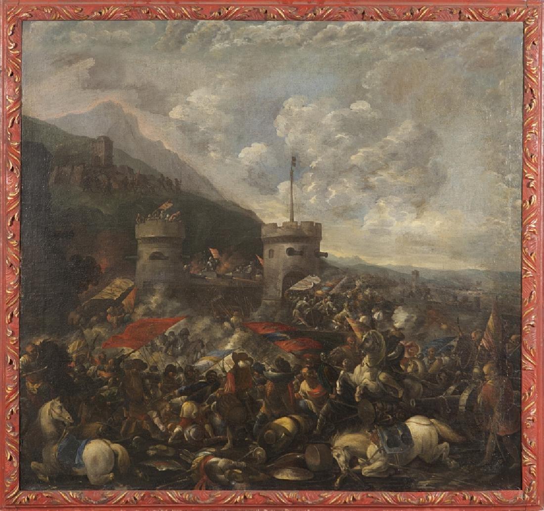 "Scuola italiana sec.XVII ""Battaglia di cavalleria"